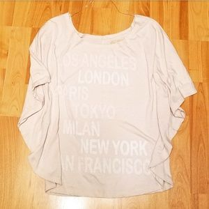 LOL VINTAGE | cities batwing sleeve shirt